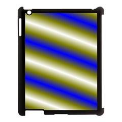 Color Diagonal Gradient Stripes Apple Ipad 3/4 Case (black)