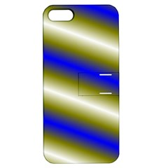 Color Diagonal Gradient Stripes Apple Iphone 5 Hardshell Case With Stand