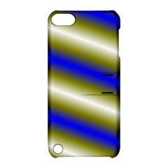 Color Diagonal Gradient Stripes Apple iPod Touch 5 Hardshell Case with Stand