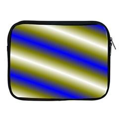 Color Diagonal Gradient Stripes Apple iPad 2/3/4 Zipper Cases