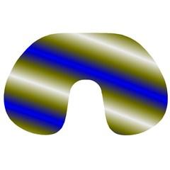 Color Diagonal Gradient Stripes Travel Neck Pillows