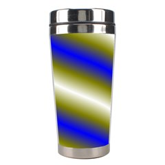 Color Diagonal Gradient Stripes Stainless Steel Travel Tumblers