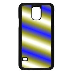 Color Diagonal Gradient Stripes Samsung Galaxy S5 Case (black)