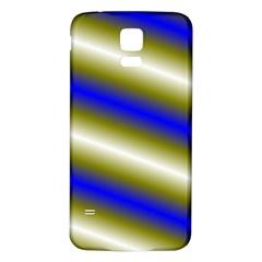 Color Diagonal Gradient Stripes Samsung Galaxy S5 Back Case (white)