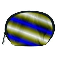 Color Diagonal Gradient Stripes Accessory Pouches (medium)