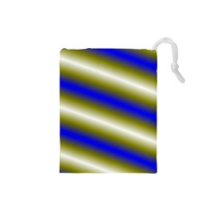 Color Diagonal Gradient Stripes Drawstring Pouches (small)