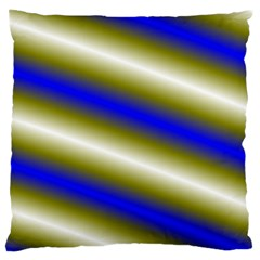 Color Diagonal Gradient Stripes Large Flano Cushion Case (one Side)