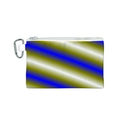 Color Diagonal Gradient Stripes Canvas Cosmetic Bag (s)