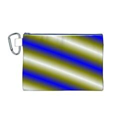 Color Diagonal Gradient Stripes Canvas Cosmetic Bag (m)
