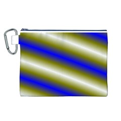 Color Diagonal Gradient Stripes Canvas Cosmetic Bag (L)