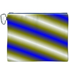 Color Diagonal Gradient Stripes Canvas Cosmetic Bag (XXXL)