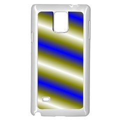 Color Diagonal Gradient Stripes Samsung Galaxy Note 4 Case (white)