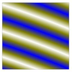 Color Diagonal Gradient Stripes Large Satin Scarf (square)
