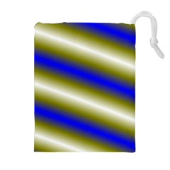 Color Diagonal Gradient Stripes Drawstring Pouches (Extra Large)