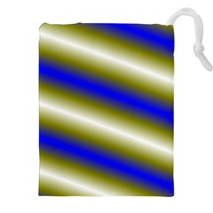 Color Diagonal Gradient Stripes Drawstring Pouches (XXL)