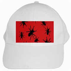 Illustration With Spiders White Cap