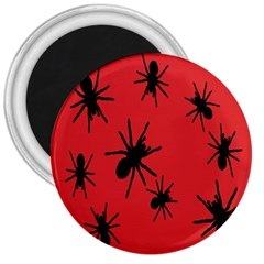 Illustration With Spiders 3  Magnets