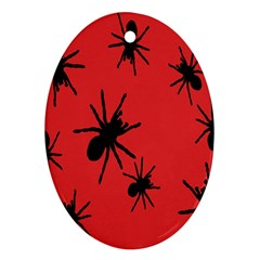 Illustration With Spiders Ornament (oval)