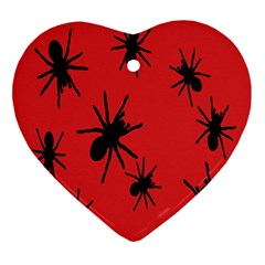 Illustration With Spiders Ornament (Heart)