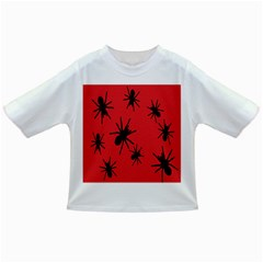 Illustration With Spiders Infant/toddler T Shirts
