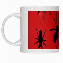 Illustration With Spiders White Mugs