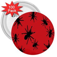 Illustration With Spiders 3  Buttons (100 Pack)
