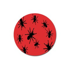 Illustration With Spiders Magnet 3  (round)