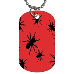 Illustration With Spiders Dog Tag (One Side)