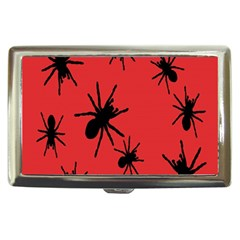 Illustration With Spiders Cigarette Money Cases