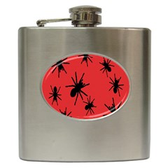 Illustration With Spiders Hip Flask (6 oz)