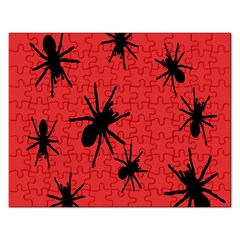 Illustration With Spiders Rectangular Jigsaw Puzzl