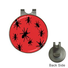 Illustration With Spiders Hat Clips with Golf Markers