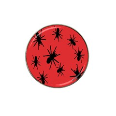 Illustration With Spiders Hat Clip Ball Marker