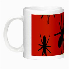 Illustration With Spiders Night Luminous Mugs