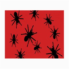 Illustration With Spiders Small Glasses Cloth