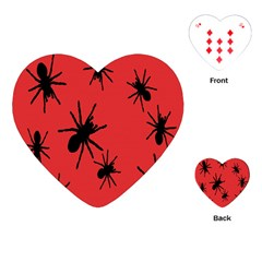 Illustration With Spiders Playing Cards (Heart)