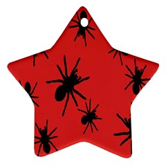 Illustration With Spiders Star Ornament (two Sides)
