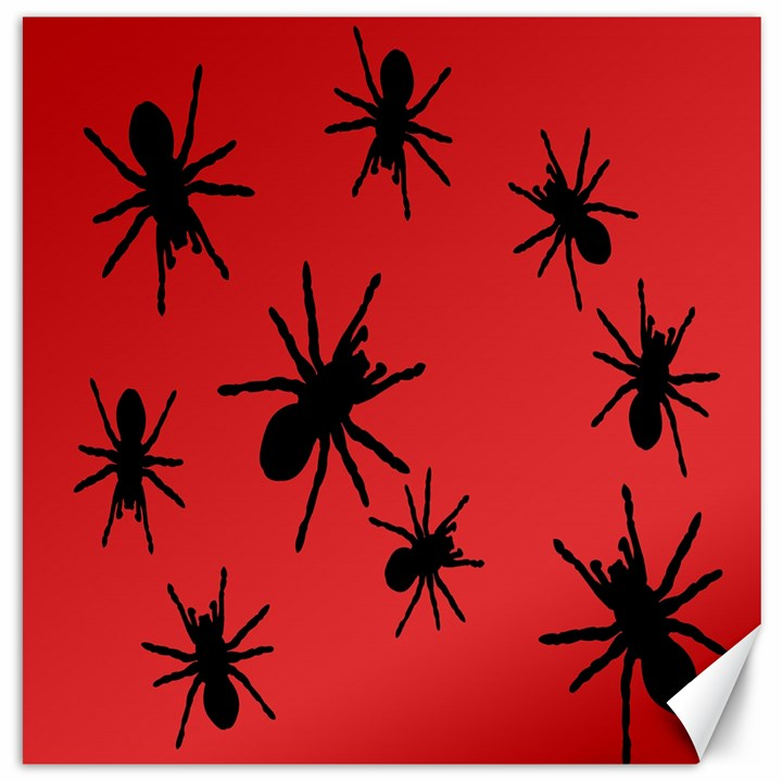 Illustration With Spiders Canvas 12  x 12