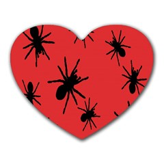 Illustration With Spiders Heart Mousepads