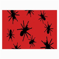 Illustration With Spiders Large Glasses Cloth
