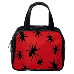 Illustration With Spiders Classic Handbags (One Side)