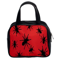 Illustration With Spiders Classic Handbags (2 Sides)