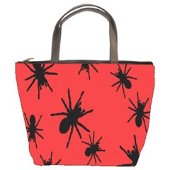 Illustration With Spiders Bucket Bags