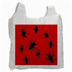 Illustration With Spiders Recycle Bag (One Side)