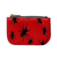 Illustration With Spiders Mini Coin Purses
