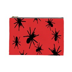Illustration With Spiders Cosmetic Bag (Large)