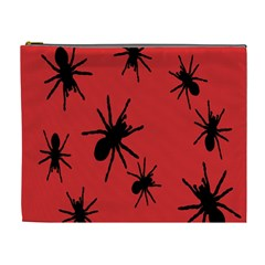 Illustration With Spiders Cosmetic Bag (XL)
