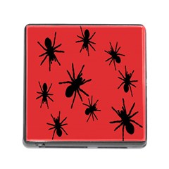 Illustration With Spiders Memory Card Reader (Square)