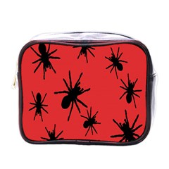 Illustration With Spiders Mini Toiletries Bags