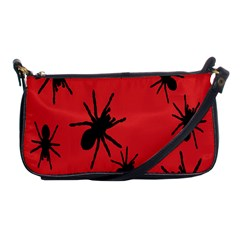 Illustration With Spiders Shoulder Clutch Bags